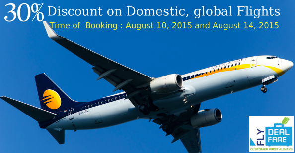 Jet Airways Offers 30% Discount on Domestic, global Flights