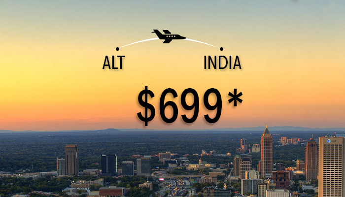 ALT to india flights deals