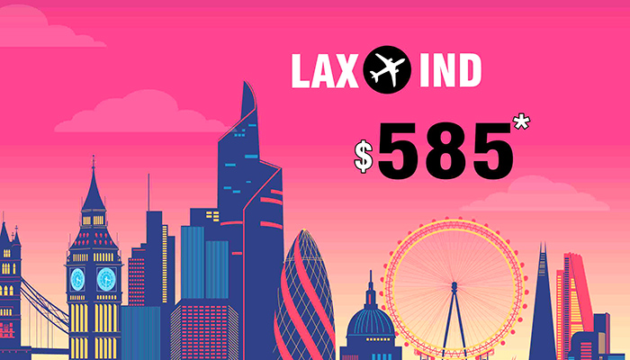 LOS ANGELES TO INDIA ROUND TRIP DEALS : FARE STARTS FROM $585*