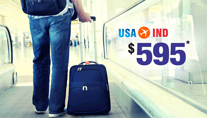 DECEMBER TRAVEL OFFERS : USA TO INDIA ROUND TRIP STARTS FROM $595*