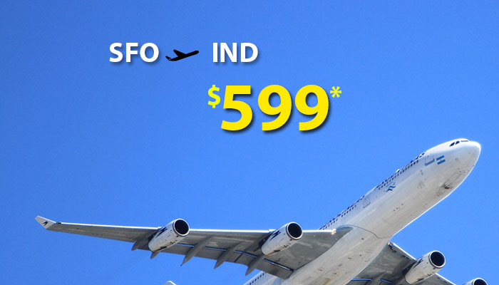 SAN FRANCISCO TO INDIA ROUND TRIP DEALS : STARTS FROM $599*