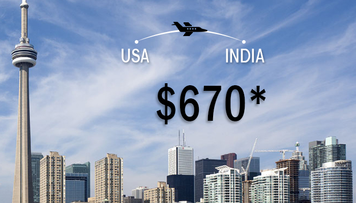 Thanksgiving Travel Deals : USA TO INDIA ROUND TRIP STARTS FROM $670*