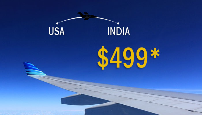 JANUARY TRAVEL DEALS : USA TO INDIA ROUND TRIP STARTS FROM $499*