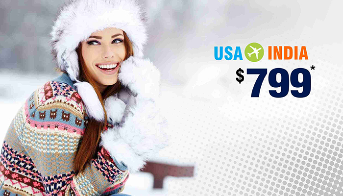 NEW YEAR TRAVEL OFFERS : USA TO INDIA ROUND TRIP STARTS FROM $799*