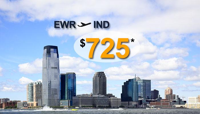NEWARK TO INDIA ROUND TRIP DEALS : STARTS FROM $725*
