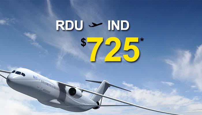 RELEIGH-DURHAM TO INDIA ROUND TRIP DEALS : STARTS FROM $725*