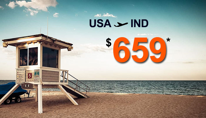 JUNE TRAVEL OFFERS : USA TO INDIA ROUND TRIP STARTS FROM $659*