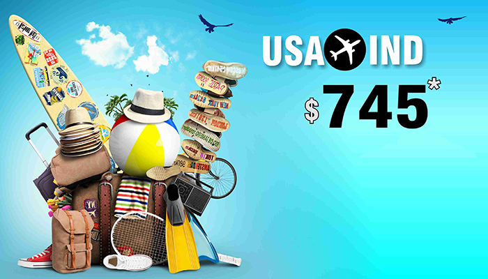 SUMMER TRAVEL OFFERS : USA TO INDIA ROUND TRIP STARTS FROM $745*