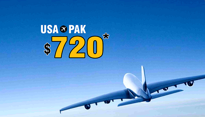 USA TO PAKISTAN FLIGHT DEALS : ROUND TRIP STARTS FROM $720*