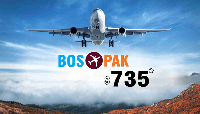 BOSTON TO PAKISTAN FLIGHT DEALS : ROUND TRIP STARTS FROM $735*