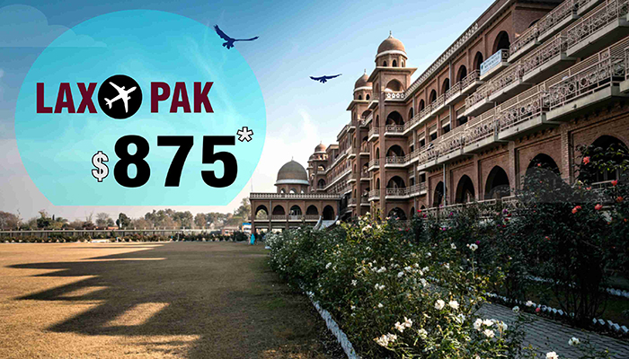 LOS ANGELES TO PAKISTAN FLIGHT DEALS : ROUND TRIP STARTS FROM $875*