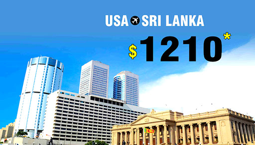 GRAB USA TO SRI LANKA FLIGHT DEALS : ROUND TRIP STARTS FROM $1210*