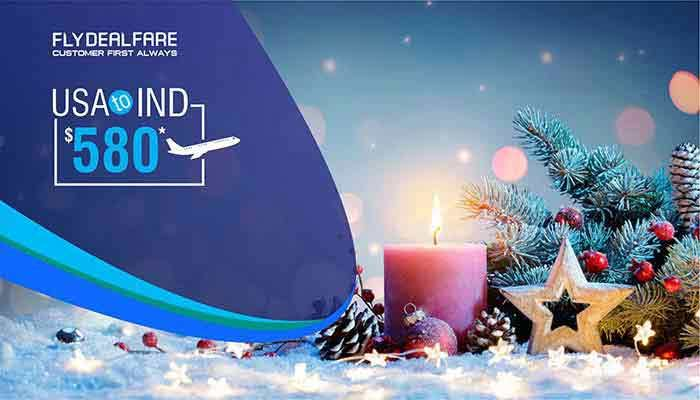CHRISTMAS TRAVEL DEALS : USA TO INDIA ROUND TRIP STARTS FROM $580*