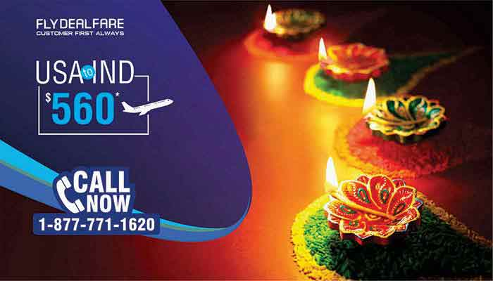 Diwali Travel Deals : USA To INDIA Round Trip Starts From $560*