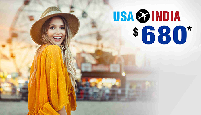 MARCH-APRIL TRAVEL DEALS : USA TO INDIA ROUND TRIP FLIGHT STARTS FROM $680*