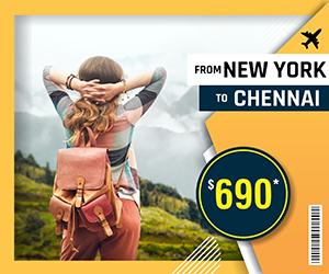 NEW YORK TO CHENNAI FLIGHTS