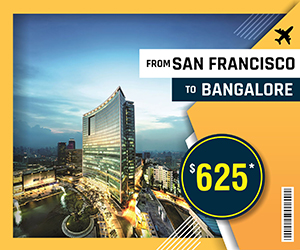 SAN FRANCISCO TO BANGALORE FLIGHTS