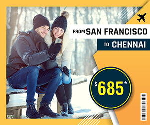SAN FRANCISCO TO CHENNAI FLIGHTS